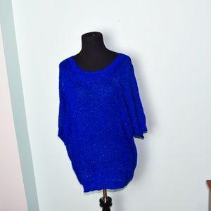 Stunning Royal Blue Shimmer Blouse